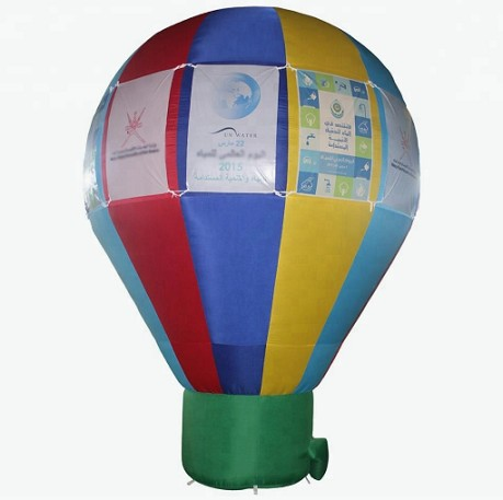 Giant advertising inflatable ground balloon for commercial display