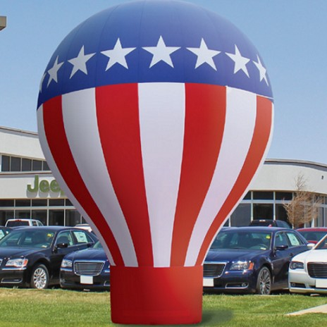 Custom design inflatable american flag ground balloon