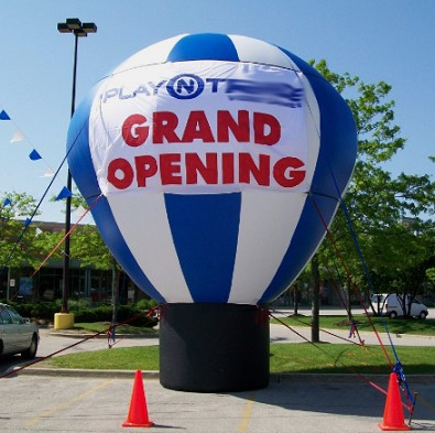 Hot air shaped ground balloon for advertising