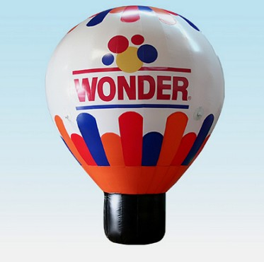Hot air shaped inflatable ground advertising balloon