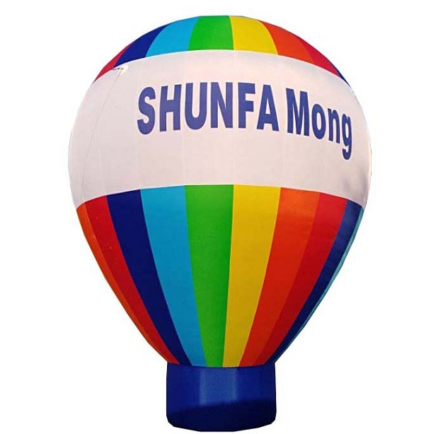 Advertising inflatable cold air ground balloon with blower