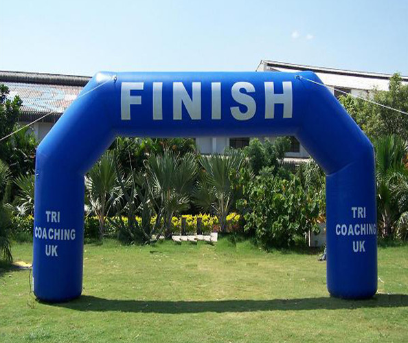 Printed inflatable finish line archway for sale