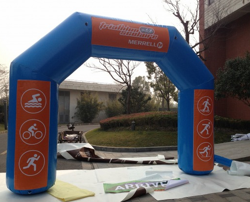 Custom Size Races Inflatable Arch Door With Blower