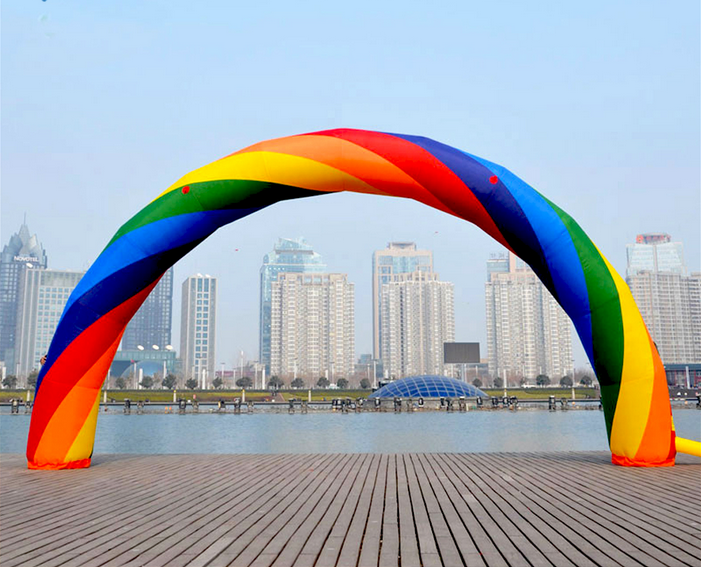 Colorful Inflatable Rainbow Arch For Outdoor Activities